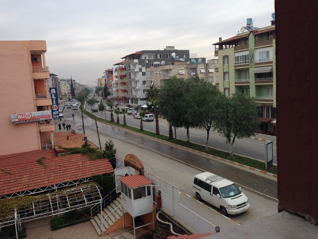 Reyhanli from the window of the Alice hotel.