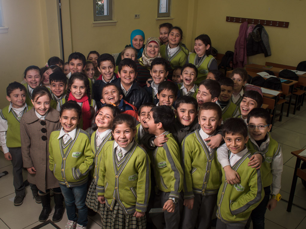 Class of students at the Friendship School in Gaziantep, Turkey, by David Gross