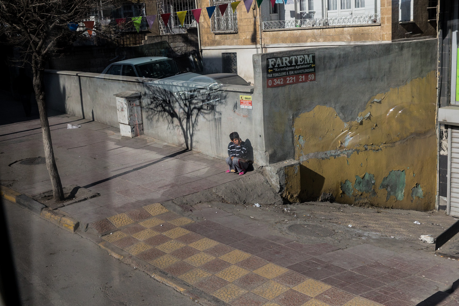 View from the Friendship School bus in Gaziantep, by Mieke Strand